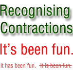 recognising contractions in spoken english