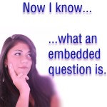 embedded question explained
