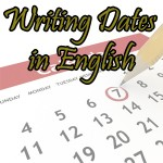writing dates in English