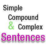 What are simple, compound and complex sentences?