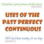 past perfect continuous uses