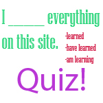 mixed tenses quiz