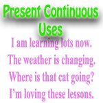 present continuous uses