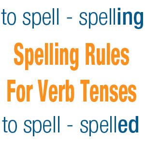 Spelling rules for verb tenses and participles