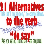alternative verbs to say