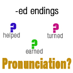 Pronouncing -ed endings - exercises - English Lessons Brighton