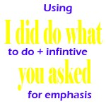 to do infinitive emphasis