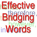 effective bridging words, thus therefore