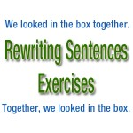 rewriting sentences exercises
