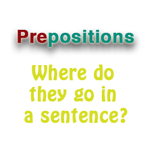 Where are prepositions placed in English sentences?
