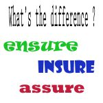 difference between insure, ensure and assure