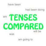 comparing examples of tenses