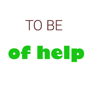 to be of help vs helpful